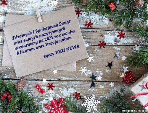 Zdrowych i Spokojnych Świąt  wszystkim Klientom i Przyjaciołom życzy PHU NEWA
